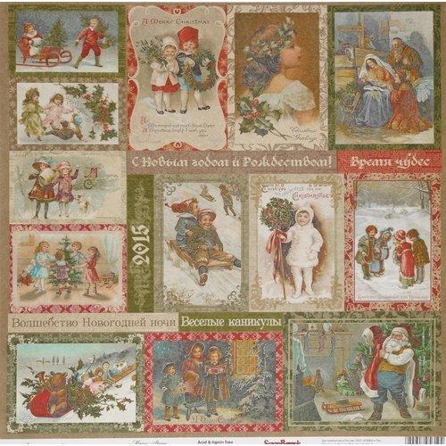 Бумага для скрапбукинга Ночь перед Рождеством. Волшебная история бумага для скрапбукинга двусторонняя basic grey capri