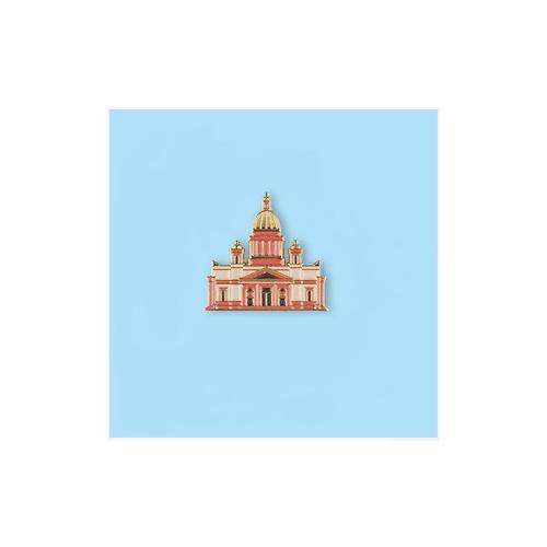 Значок металлический СПБ Исаакиевский собор картина старый петербург исаакиевский собор холст масло 50х60 см