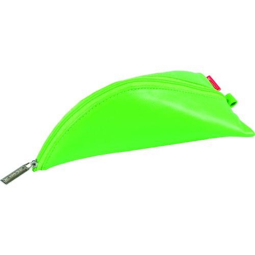 Пенал на молнии, 10 х 19 см, зеленый пенал rw 15 х 20 см