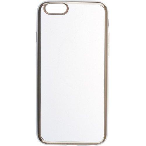 "Накладка для iPhone 6/6S ""Silicone chrome border 4People"", серебристая накладка miracase mp 8812 для apple iphone 6 6s фиолетовый"