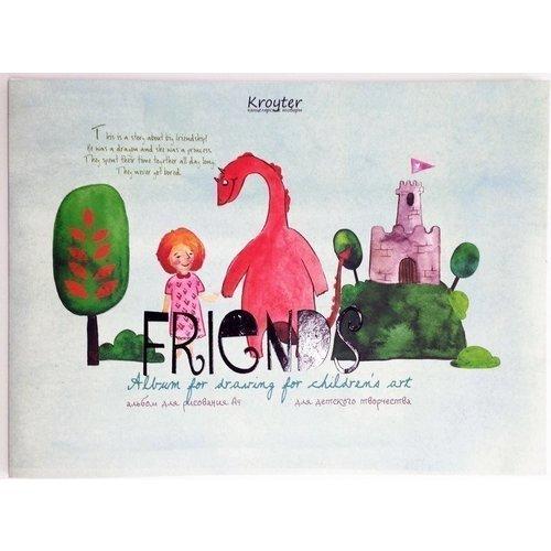 Альбом для рисования Друзья А4 принадлежности для рисования спейс альбом для рисования авто яркие внедорожники 24 листа