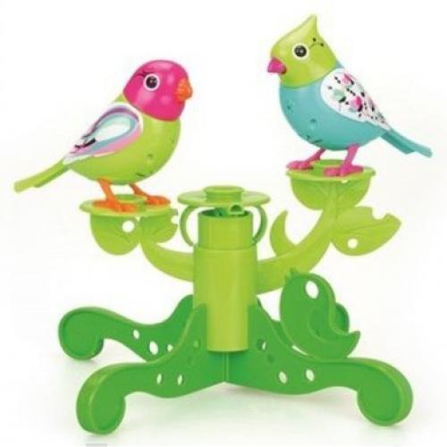 "Интерактивная игрушка ""Две птички с деревом"" silverlit две птички с деревом зелено голубые digibirds"