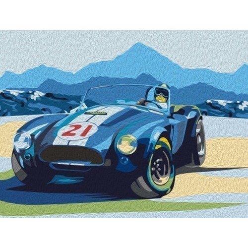 Раскраска по номерам Ретро-автомобиль Cobra, 30 х 40 см