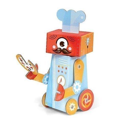 Игрушка из картона Робот шеф-повар krooom игрушки из картона 3d набор сказочное дерево k 327