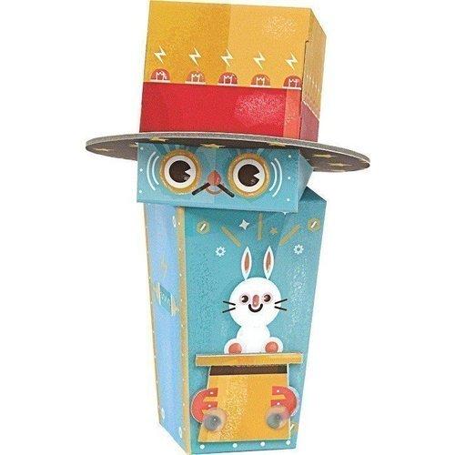 Игрушка из картона Робот-фокусник krooom игрушки из картона 3d набор сказочное дерево k 327