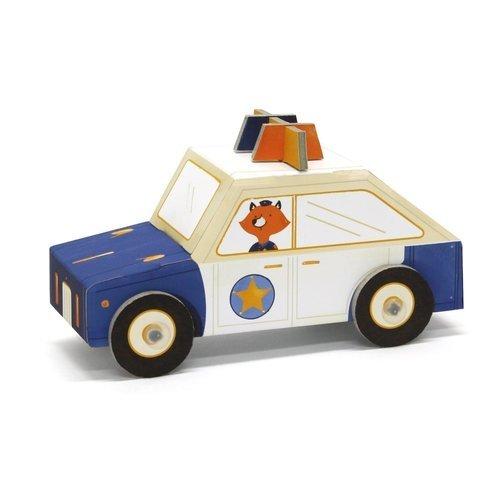 Купить Модель для сборки из картона Полицейская машина , 15 х 6 х 8 см, Krooom, Развлекательные и развивающие игрушки