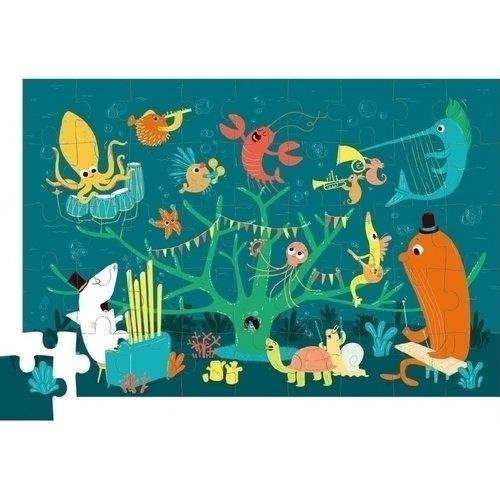 Пазл Морские животные, 45 элементов коврик пазл животные 12 элементов