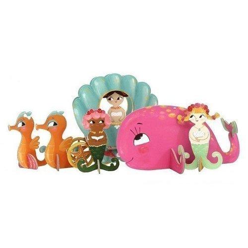 "3D набор ""Русалочки"" krooom игрушки из картона набор замок принцессы тринни k 219"