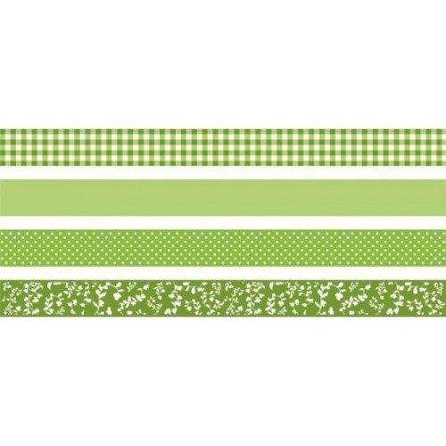 Набор декоративных клеевых лент зеленый