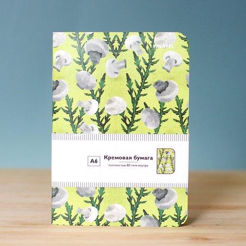 Блокнот Mushroom А6, 40 листов, 80 г/м2 блокнот dark grey а6 40 листов 80 г м2