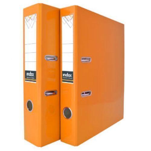 Папка-регистратор ламинированная неоновая оранжевая папка регистратор 80 мм эконом без покрытия
