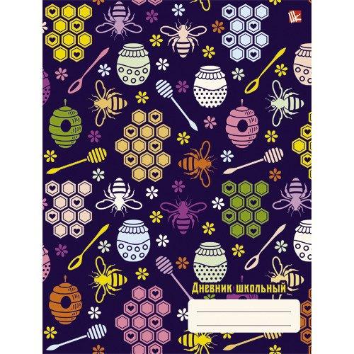 Дневник для средних и старших классов Разноцветные пчелки дневник для средних и старших классов дневник школьницы дизайн 5 17
