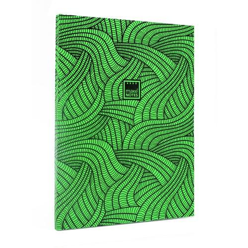Блокнот в линейку Неон А4, зеленый блокнот lucie animals а4 22 листа в линейку
