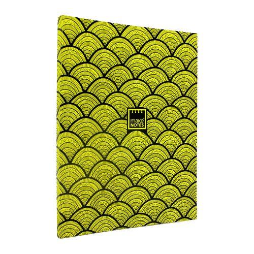 Блокнот в линейку Неон А4, желтый блокнот lucie animals а4 22 листа в линейку