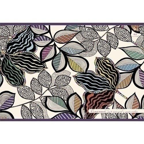 Блокнот для эскизов и зарисовок Волшебные листья А4, 80 стр.