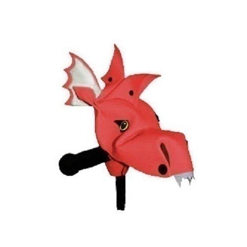 аксессуары для велосипедов и самокатов Веселый руль Красный дракон Дракоша