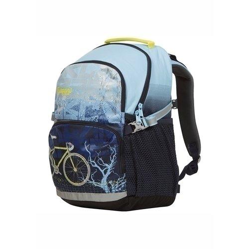 Рюкзак XO 20L Lt Blue картина дети идут в школу