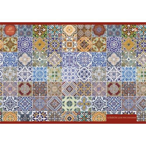 Альбом для рисования Орнамент. Мозаика А4 альбом для рисования сказочные домики а4