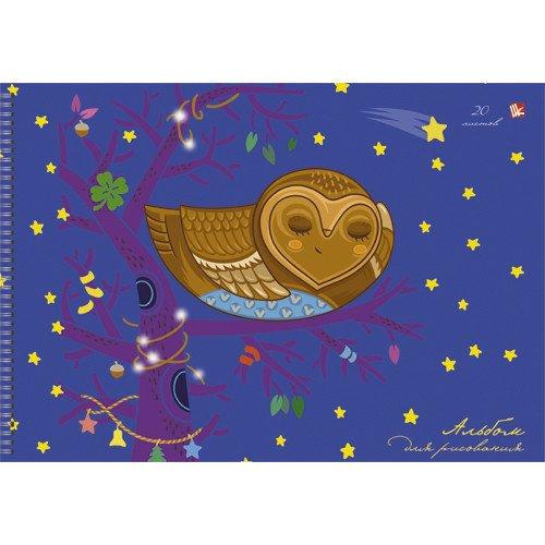 Альбом для рисования Спящая сова А4 альбом для рисования 20 листов пи джей маски
