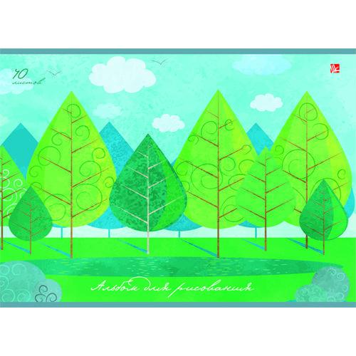 Альбом для рисования Дивный лес А4