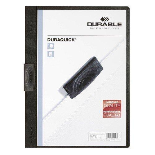 Папка Duraquick c боковым прижимом А4 черная папка с прижимным механизмом и боковым карманом а4 черная