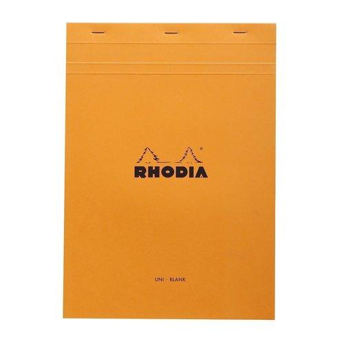 купить Блокнот с микроперфорацией нелинованный А4, 80 листов, оранжевый онлайн