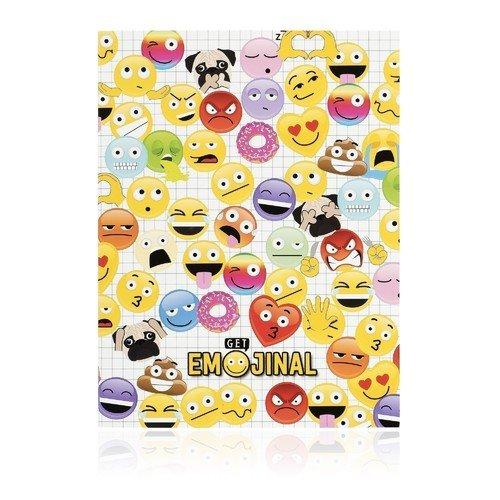 """Блокнот """"Get Emojinal"""" XLarge, 40 листов, 19 х 25 см, в линейку"""