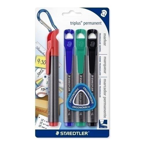 цена на Набор перманентных маркеров Triplus, 4 цвета
