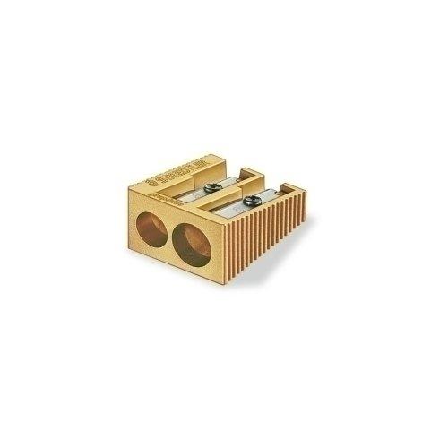 Точилка металлическая 2 золотая мики sunwood 5023 panda точилка точилка цвет случайный