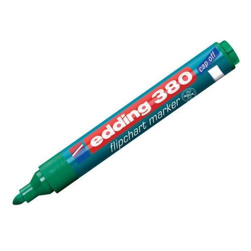 Флипчарт-маркер, круглый, зеленый