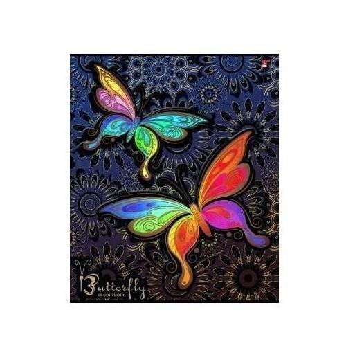 Тетрадь Радужные бабочки А5, в клетку тетрадь в клетку геометрия а5
