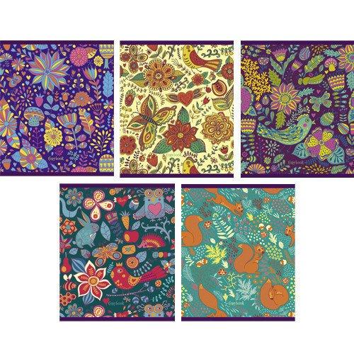 Тетрадь в клетку Сказочные узоры А5 тетрадь яркие джунгли графика а5 48 листов в клетку в ассортименте