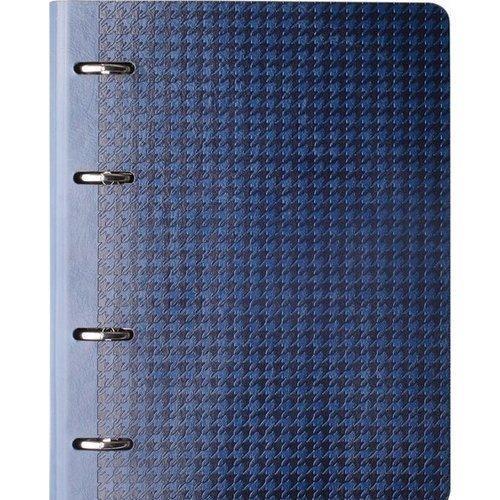 Тетрадь Tweed А5, в клетку, синяя khaki oversize lapel colar longline tweed coat with waist tie
