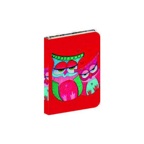 """Бизнес-блокнот """"Owls"""", в клетку, красный owls 1997 calendar"""