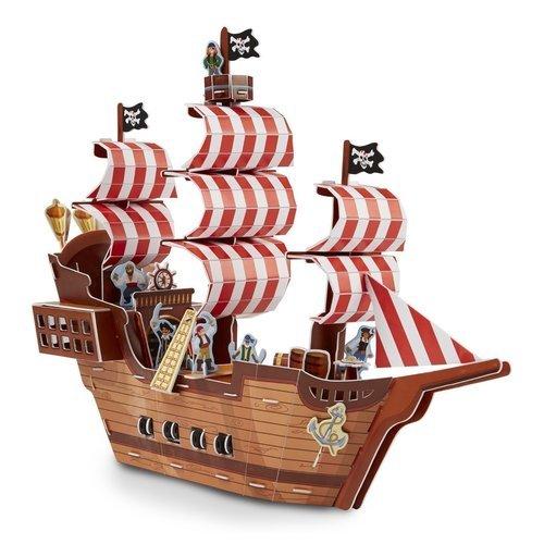 Купить Пазл 3D Пиратский корабль , 100 элементов, Melissa & Doug, Пазлы