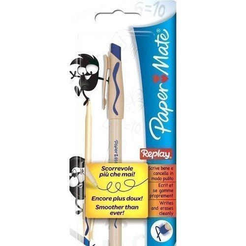 Ручка шариковая Replay со стираемыми чернилами 1,0 синяя ручка шариковая со стираемыми чернилами синяя 826101