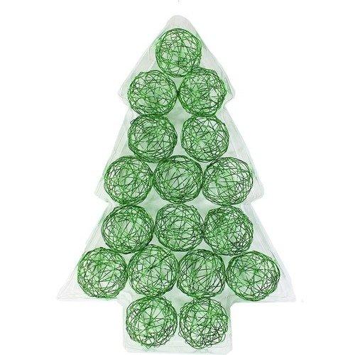 цена Проволочные зеленые шары, 5 см, 17 шт. онлайн в 2017 году