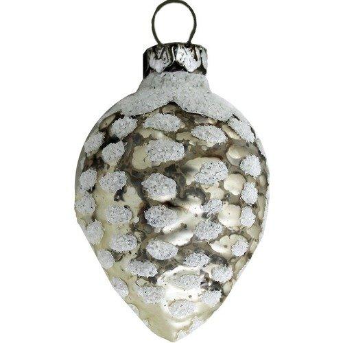 Елочное украшение Шишка, серебристое украшение елочное гирлянда снежинки 1 шт 120 см в пакете пластик