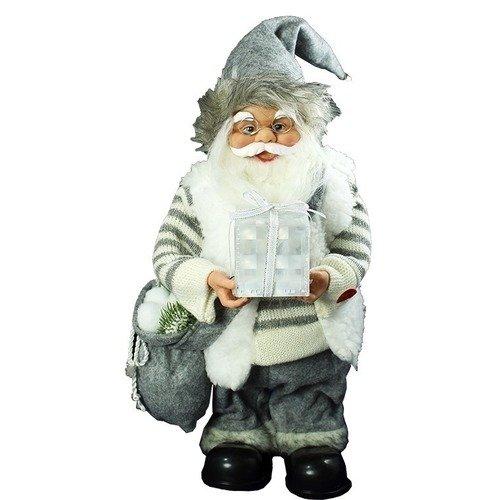 """Музыкальная игрушка """"Санта в белой куртке и штанах с мешком"""""""