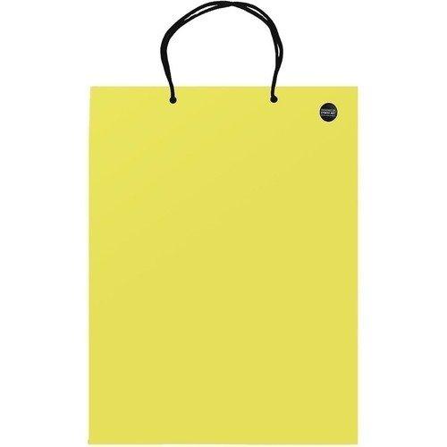 Пакет подарочный желтый