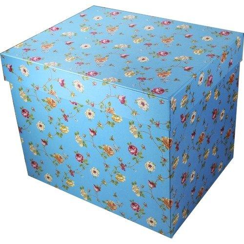 Подарочная коробка, синяя коробка подарочная на рождение ребенка большого размера
