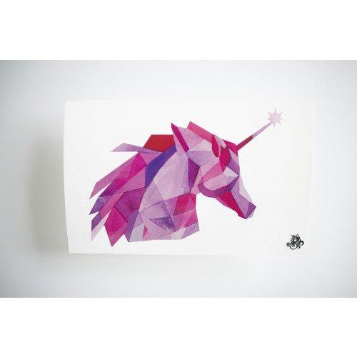 Временное тату Glowing Unicorn