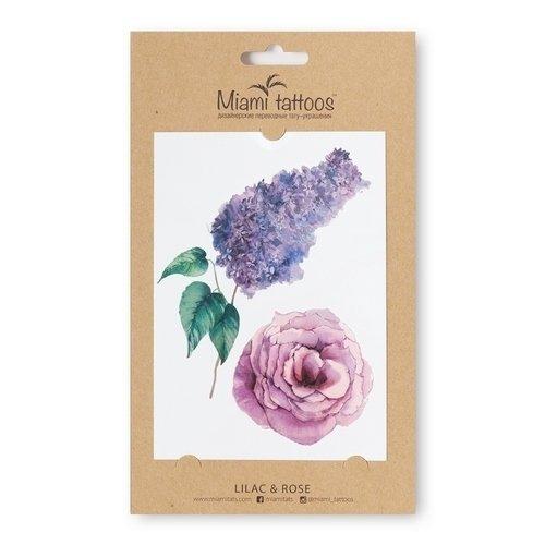 Татуировка переводная Lilac & Rose