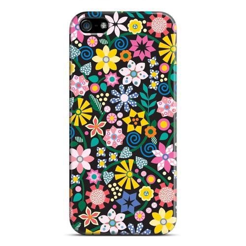"лучшая цена Чехол для iPhone 5 ""Геоцветы"""