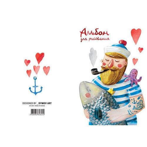 Альбом для рисования Моряк А4 альбом для рисования 20 листов пи джей маски