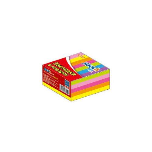 Блок самоклеящийся бумажный неон блок самоклеящийся 51х51 мм 400 листов 4 цвета 122858