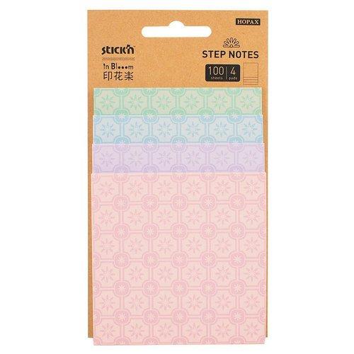 Блок самоклеящийся бумажный inBlooom пастель блок самоклеящийся 51х51 мм 400 листов 4 цвета 122858