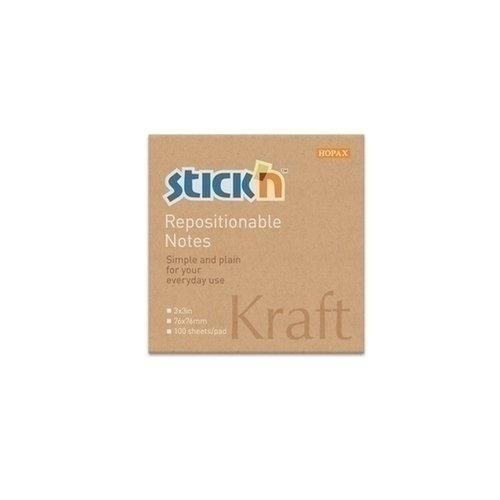 Блок самоклеящийся бумажный Kraft Notes блок самоклеящийся staff 1200 листов 38х51 мм ассорти