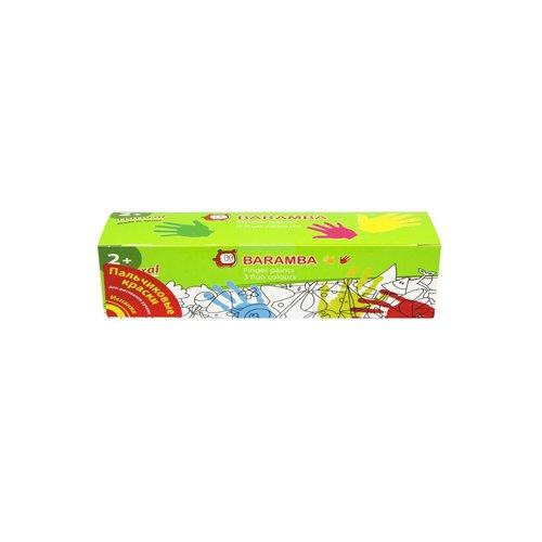 Пальчиковые краски в картонной упаковке 3 цвета краски пальчиковые baramba 4 цвета b00530