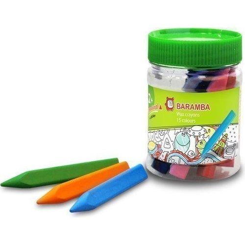 Набор восковых треугольных карандашей, 15 цветов пифагор набор карандашей восковых 24 цвета